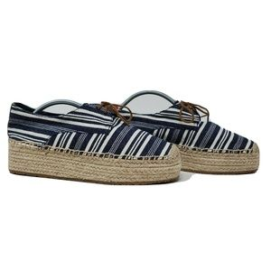 Tory Burch Florence Striped Platform Espadrille